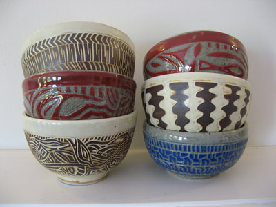 Beth Gabow - Pottery - ceramics - Home Decor - wine country - vineyard - wine - bowls - plates - dinnerware