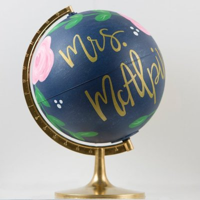 Hand Painted - Globes -Glitter - Boutique - Shop Local - Bay Area - San Francisco - WeAreInCommons - CivicCenter