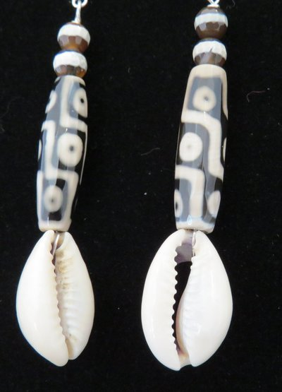 Earrings - Pookah Shells -Jewelry - Statement Jewelry -  Artistic Jewelry by PLT - Shop Local - Bay Area - San Francisco - WeAreInCommons - CivicCenter