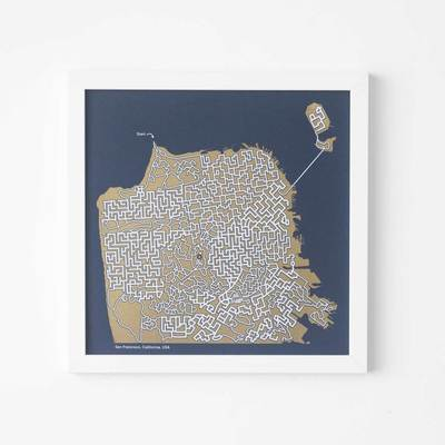 Map - Art Print - Home Decor - WehaveInCommons - CivicCenter - Shop Local - Wall Art - Dirty AlleyDesign - Puzzle