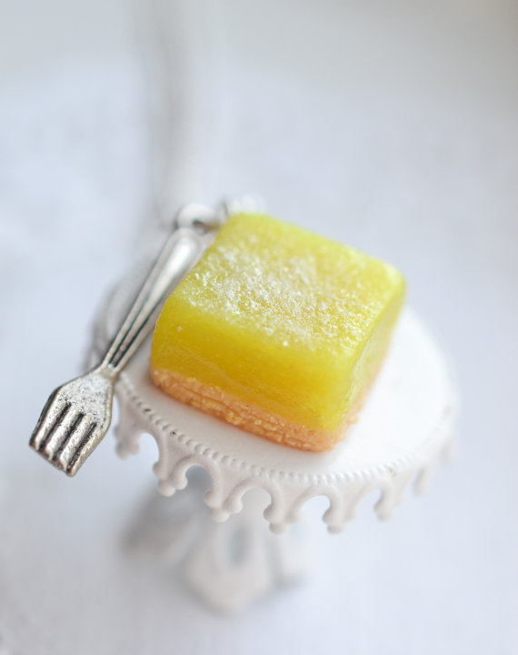 Miniature- Scented - Kids Jewelry - Lemon Bar - Silver - Necklace -Decadent Minis