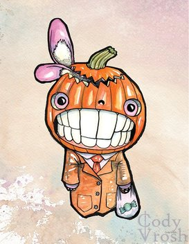Halloween - Pumpkin -Art - Cody Vrosh - Illustration