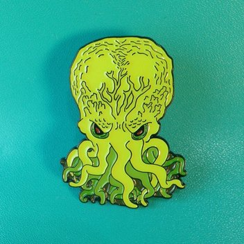 Cthulhu - Enamel - Pin Collector - Horror Pin - Horror - Elder God -SLumber - Lovecraft - HP Lovecraft -  Pin  - Monkey and Seal