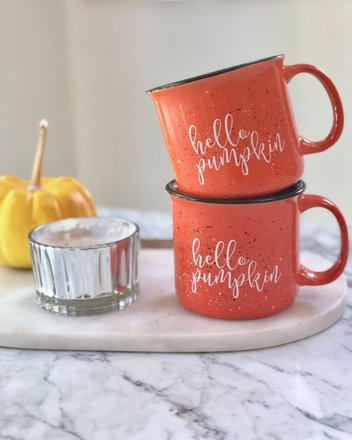 Hello - Pumpkin - Halloween -Campfire - Mug - Pretty Collected