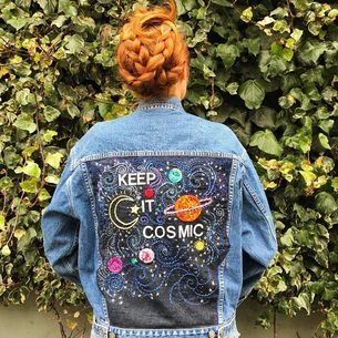 Larkin and Larkin - Hand Embroidered - Denim Jacket - SFetsy - EtsyLocal - Indie Holiday Emporium - Bay Area - Fashion