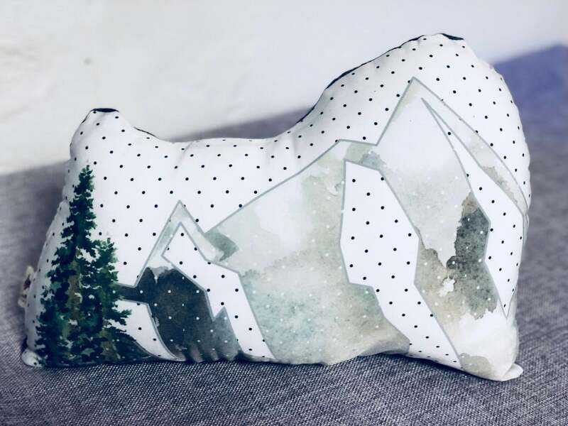 SFEtsy, #Inktober, #InktoberSFetsy , Instagram, Mountains, Nature, Pillow, Home Decor