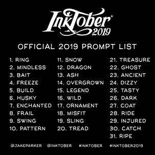 inktober, prompt list