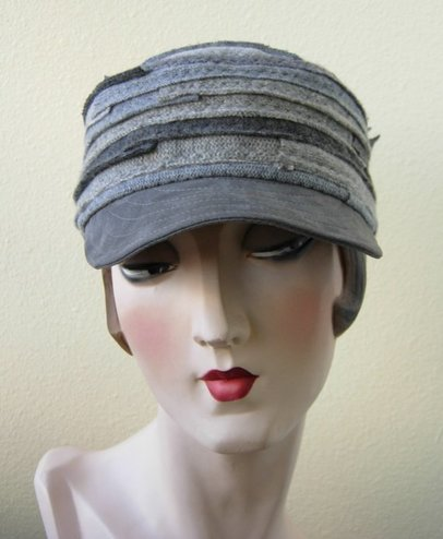 Elina Davenport, SFetsy, Recycled, Cashmere, Hats, Millinery,  Recycled, Earth Day